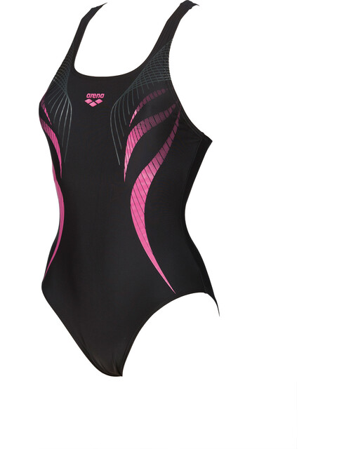 arena Flow V Back LB One Piece Swimsuit Women black-aphrodite